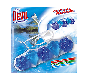 Dr. Devil WC Crystal Flowers Polar Aqua