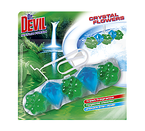 Dr. Devil WC Crystal Flowers Natur Fresh